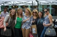 lovely ladies + free wine = success