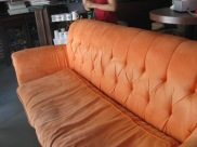 the big orange couch!